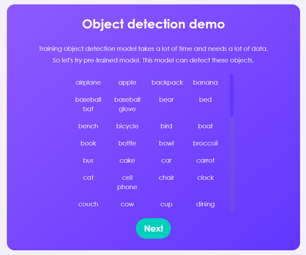 Pre-trained object detection